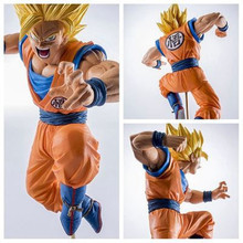 "Hot Action 19cm Anime Dragon Ball Z Son Goku Super Saiyan Dbz Figure PVC 7.5"" Collection Budokai Tenkaichi 3 Model Doll Gift Toy(China)"