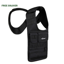 FREE SOLDIER Outdoor hiking invisible vest bag MOLLE system tablet bag IPAD bag purse wallet CORDUAR material YKK Zipper bags