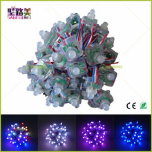 Free shipping 50pcs/lot DC5V 12mm 2811 Square Diffused Digital ws2811 addressable RGB LED Pixel String IP68 waterproof modules(China)