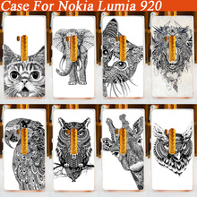 Special Design Animal Head Painting Cool Wildlife Painted Case For Nokia Lumia 920 Hard Back PC Cover Case For Nokia Lumia 920