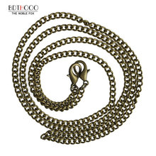 120cm Replacement Metal Chain For Shoulder Bags Crossbody Handbag Antique Bronze Handle DIY Bag Strap Accessories Hardware(China)