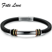 Free shipping,2015 new style Silicone Jewelry Individuality type Men's Bracelet  Hot Sale PH819