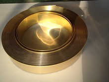 "88mm (3.3"") x 50m (164 feet) Mirror Gold Folding Aluminum Coil for channel letter sign making"