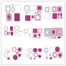 For DIY Scrapbooking Photo Album Card 21 Style Frame And Wave Line Customized Metal Cutting Dies Stencil Scrapbooking Embossing(China)