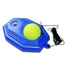Rubber Tennis Training Tool Single Practice Tennis Ball Trainers Rebound Balls Device (with Rope Ball)