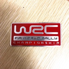 3D Aluminum WRC Car Stickers World Rally Championship For Citroen VW Volkswagen Ford BMW PEUGEOT MITSUBISHI RENAULT car styling(China)