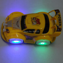 Musical LED Light Toy Cars Hot Wheel Turning Racing Kids Car Toys Automatic Car Steering Lighting Music Toy For Kids Gifts