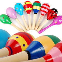 Baby wooden rattles bed bell baby educational toys hand bell WJ099-WJ100