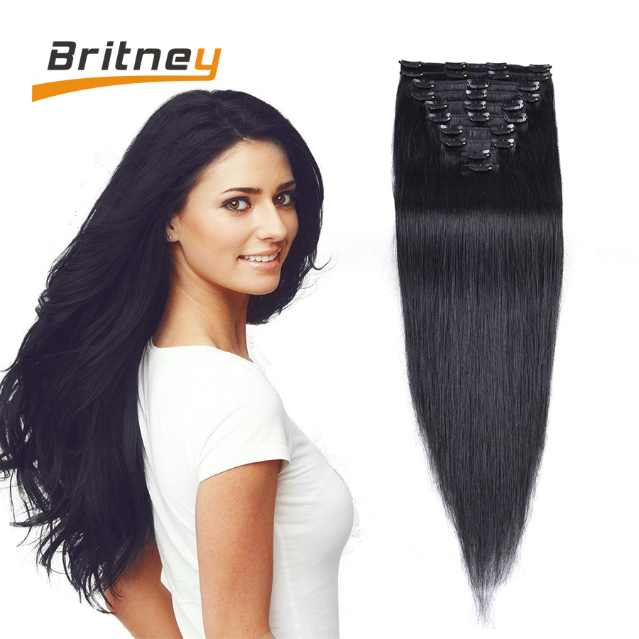 Brazilian Clip In Human Hair Extensions Britney Hair Products Human Hair Clip In Extensions African American Clip In Human Hair<br><br>Aliexpress