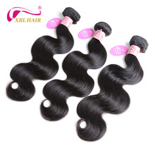 "XBL HAIR Peruvian Body Wave Human Hair Weaves Hair Bundles 1 PC Natural Color 8-28"" Remy Free Shipping"