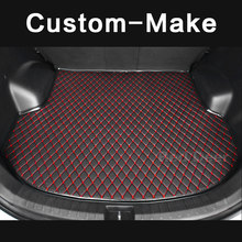 Customized Car Trunk Mat Specially For Ford Explorer U Kuga Escape Edge Car Styling Cargo Boot Carpet Rug Liner