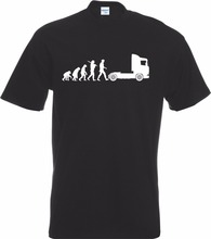 T Shirt Discount 100 % Cotton For Men'S Cheap Tee Shirtsevolution Of Trucker Man Lorry Truck Driver T-Shirt