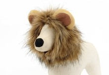 new winter cute lion bristle dog pet hat high quality labrador cat winter warm cap with ears animals custume dress