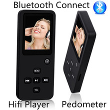 2017 New 8GB 16GB Bluetooth Hi-Fi Sound MP3 Player With Pedometer 1.8'' LCD Music Playing Time 60 Hours Voice Recorder FM