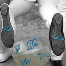 I Do Me Too Crystal Rhinestone Shoes Decal Bride&Groom Shoes Sticker Wedding Fa