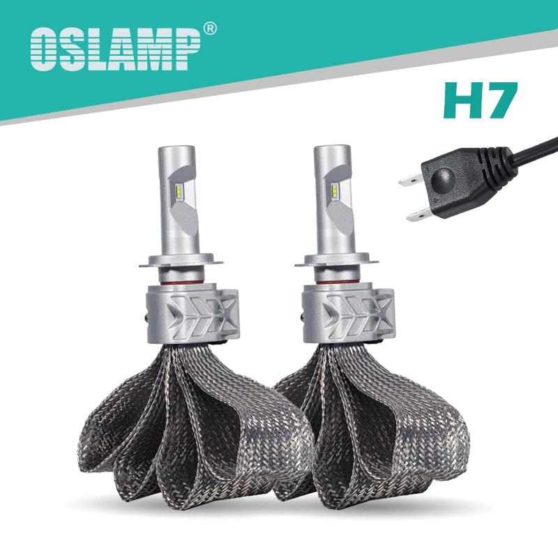 Oslamp H7 Led Headlight kits 6500K CREE CSP Chips Fan-less Copper Belt Heat Sink H7 Car Bulbs Auto Styling Fog Lamps 72W/set 5S<br><br>Aliexpress