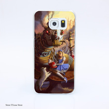 2890G Sandras Steampunk Fantasy Art Print Hard Transparent Case Cover for Galaxy S3 S4 S5 & Mini S6 S7 & edge