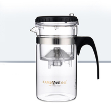 New Useful Multi-purpose 200ml Glass Tea Pot with Stainless Infuser Mug for Home Guest Personal Use