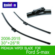 "RAINFUN S590 Wipers Size:30""+26""R Fit For Ford S-max(2006-2015)Wiper blade rubber replacement Ruitenwisser Limpiaparabrisas"