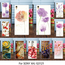 Painted Covers Cases For Sony Xperia XA1 G3121 G3123 G3125 G3112 G3116 Case Cover TPU Silicone Plastic Flower Rose Dog Shell Bag