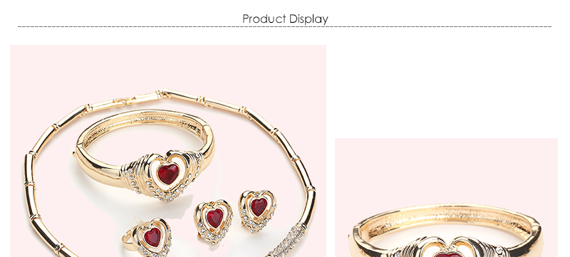 CWEEL Jewelry Sets Indian Fashion Bridal Wedding Jewelry Heart Vintage Dubai Jewelry Sets Women Cheap Costume Jewellery (1)