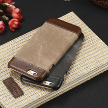 Luxury PU Leather Canvas Wallet Case For iPhone 6 6S/5S 5/6 6s Plus Soft Phone Case Cover for Apple iPhone6 6S