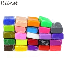 HIINST Modern Playdough 24pcs Malleable Fimo Polymer Modelling Clay Blocks Plasticine DIY Toy For Kids Children Feb10