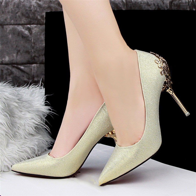 Sexy High Heels Shoes Woman Pumps Red Gold Silver High Heels Shoes Woman Ladies Wedding Party Shoes 2018 27