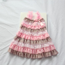 Baby Fashion Girl Lace Ruffle Dress Lovely Baby Girl Birthday Petti Dress Tulle Children Kids Clothing