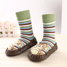 DreamShining Cartoon Cute Baby Socks Toddler Shoes Kids Boy Girl Socks Anti Slip Cotton Newborn Winter Sole Socks Meias Infantil