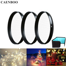 CAENBOO Camera Lens Star Filter 37 40.5 46 49 52 55 58 62 67 72 77mm Cross 4X 6X 8X Lines Lens Light Filter Bag For Canon Nikon