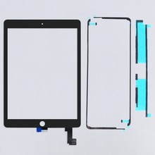 Free shipping by Dhl  100% tested well  For ipad 6 6th lcd glass with flex cable for ipad air 2 touch digitizer with adhesive