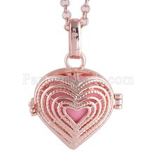 Partnerbeads Geometric Angel Lockets Plated Inlaid CZ Stone Stainless Steel Cage Prayer Box (exclude the ball) AC3769R