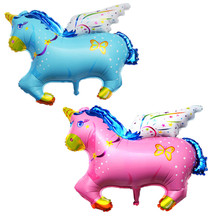 Large animal Balloons flying horse balloon cartoon aluminum foil balloon wedding decoration children inflatable classic toys