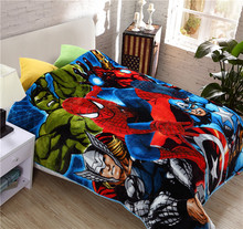 Student Kid The Avengers Duvet Cover/Boys Marvel Design School Single Bed Quilt Cover/Child Spiderman Winter Twin Size Beddings(China)