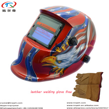 Red American Eagle Best Sale Cheapest Price Welding Helmet Mask Cap Electronic Lighted Welding Protection PowerTRQ-HD10-2200DE-G