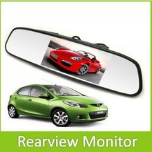 4.3 Inch color TFT LCD Screen Car Rear view Mirror Monitor Display With 2 Way Video Input For Rear View Camera