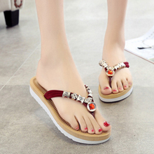 Nice Fashion High Quality Women Outdoor Beach Slipper Rhinestones Diamond Flip Flops Sandals For Ladies Leisure Non Slip Shoes