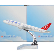 Turkish Airlines Boeing 777-300 16cm model airplane kits child Birthday gift plane models toys Free Shipping Christmas gift(China)