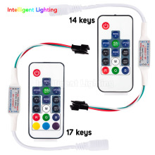 WS2811/WS2812B Led RGB Pixel Controller Remote Wireless RF Digital Color Strip Light DC5V-DC24V(China)