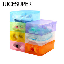 Translucent Storage Shoebox Candy Color Plastic Storage Box Simple Storage Kinds Of Colors 27.5*18*9.5cm High Quality