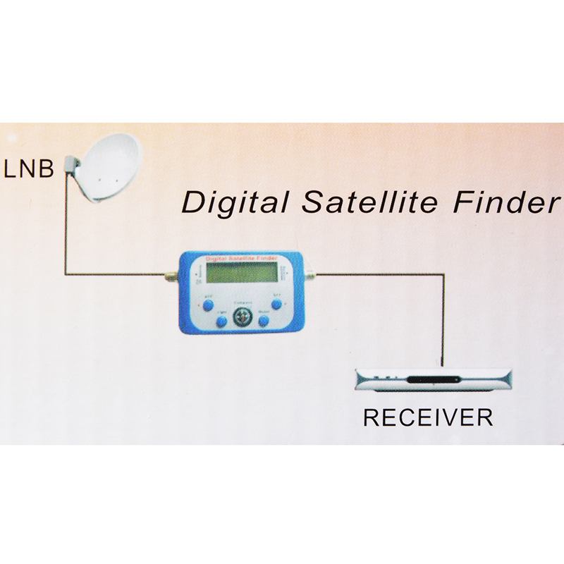 Digital Satellite Finder Signal Meter SF-95DR Meter Satlink Receptor TV Signal Receiver Decoder DVB-T2 Satfinder receptor FTA