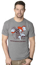 Mens Hipsterpotamuses Funny Hippopotamus Hipster Animal T Shirt (Grey) Fashion T-Shirts Slim Fit O-Neck Interesting Pictures
