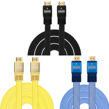 2017 Boutique Digital High Quality Good Sale Portable HDMI Cable 1.5M For PS3 DVD HDTV XBOX LCD HD TV 1080P Flat Cable Nov9(China)