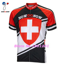 Customized 2017 black red cycling jersey Switzerland Swiss bike clothing riding summer ropa ciclismo hot road nowgonow funny(China)
