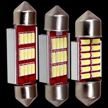 4pcs 31mm 36mm 39mm 41mm C5W C10W CANBUS NO Error Auto Festoon Light 12 SMD 4014 LED Car Interior Dome Lamp Reading Bulb DC 12V(China)