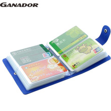 Ganador Fashion Business Credit Card Holder Bags Leather Bank Card Bag 40-64 Cards Case ID Holders Card Keepers LS6534