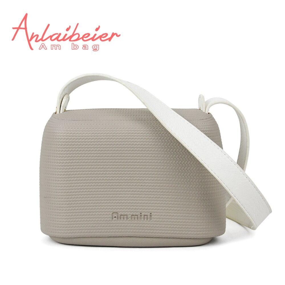 0fbe10367950 ANLAIBEIER EVA O Pocket Obag O Bag Style Waterproof Mini Candy Color AMbag  with Leather Belt
