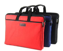3 differents style red/blue/black/brown A4 Briefcase bag for Office Man Woman(China)