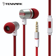 TENNMAK Dulcimer 3.5mm Metal Earphones Earbud  with Microphone & Remote clear sound & strong bass free shipping